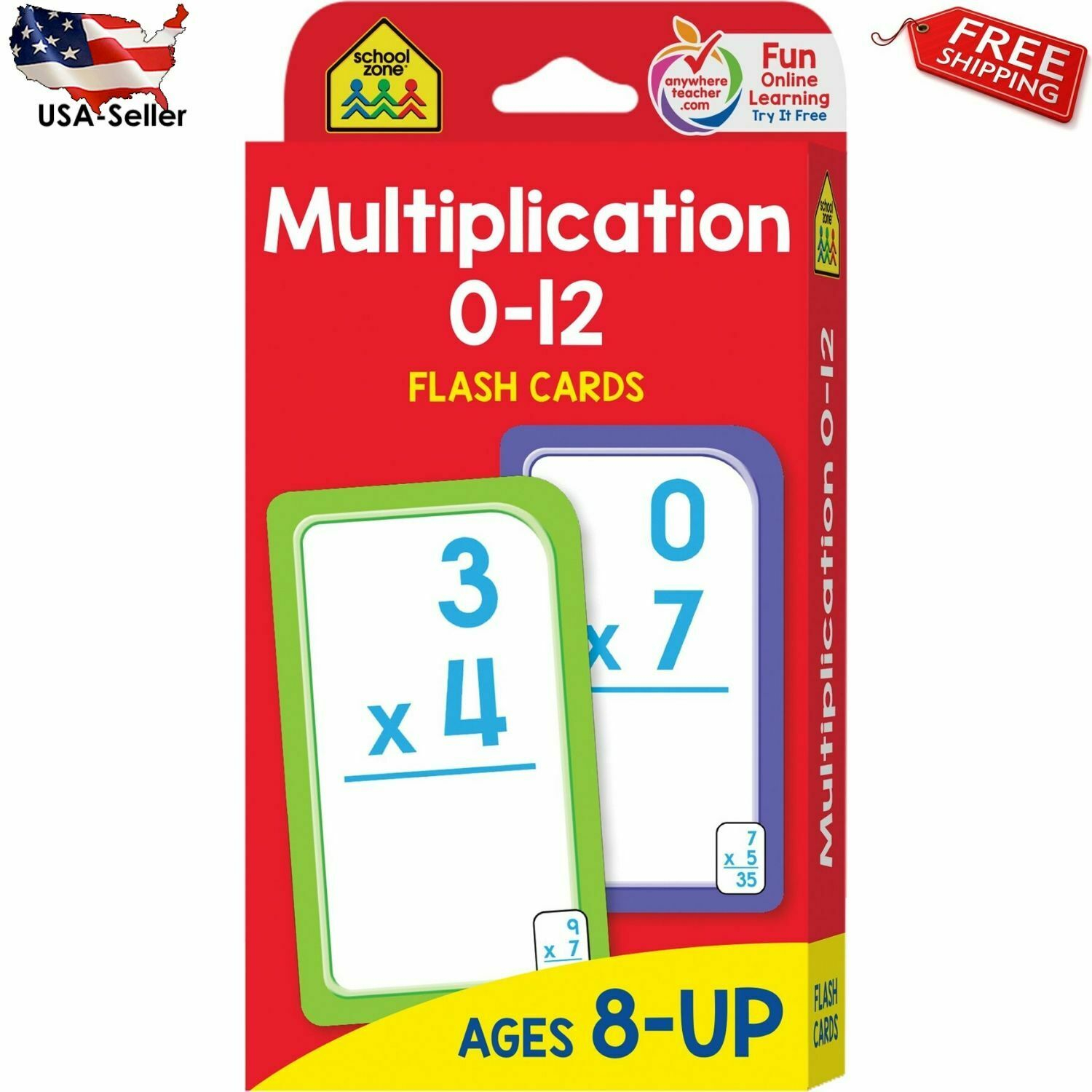 Multiplication 0-12 Flash Cards Elementary Math, Multiplication Facts, And  More