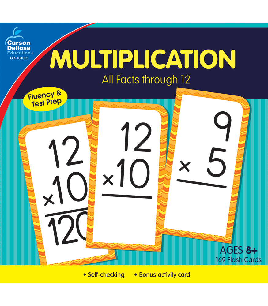 Multiplication All Facts Through 12 Flash Cards Grade 2-8