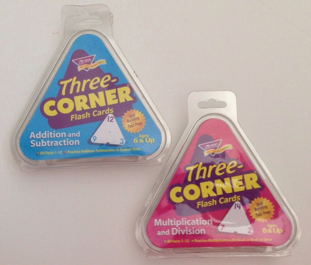Multiplication And Division Three Corner® Flash Cards