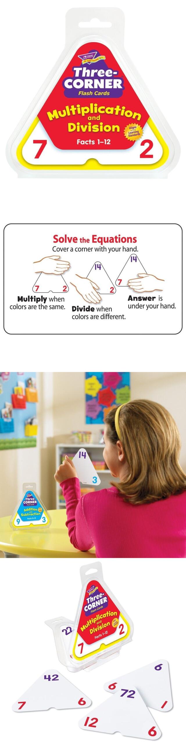 Multiplication And Division Three-Corner® Flash Cards | Ebay
