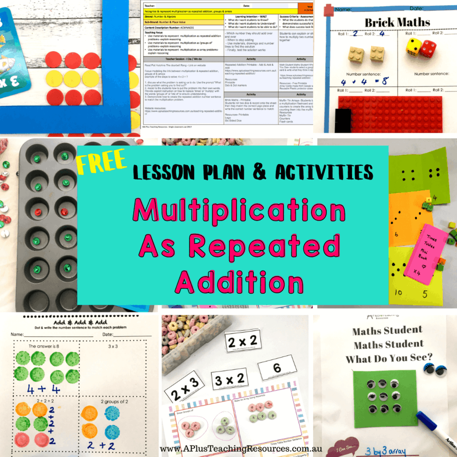 Multiplication As Repeated Addition Lesson Plan {Free Download}