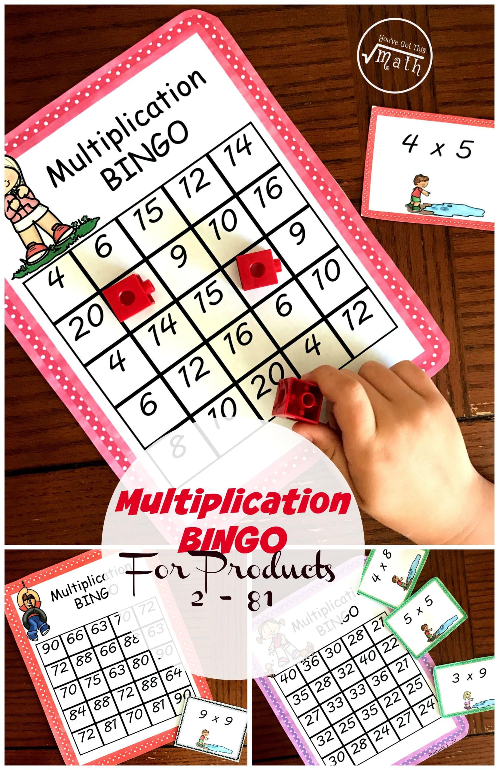 Multiplication Bingo - A Fun Game To Practice Multiplication