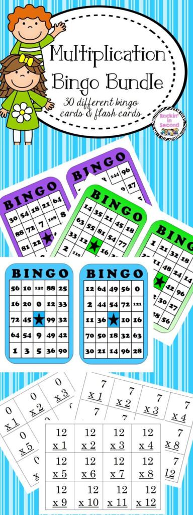 Multiplication Bingo & Flash Cards 0 12 Multiplication Bingo