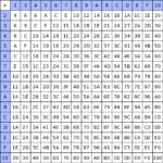 Multiplication Chart 50X50   Pflag