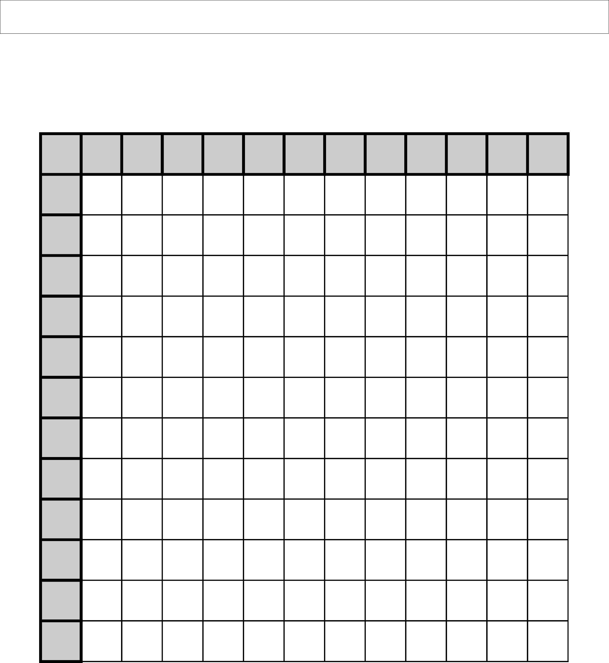 Multiplication Chart Empty Pdf Printable Blank
