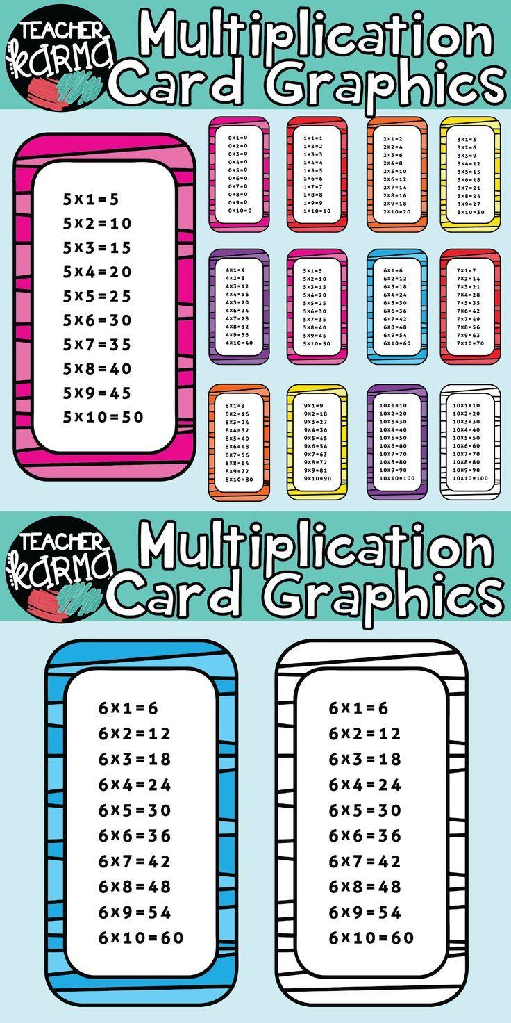 Multiplication Clipart, Times Tables | Teacher Favorite