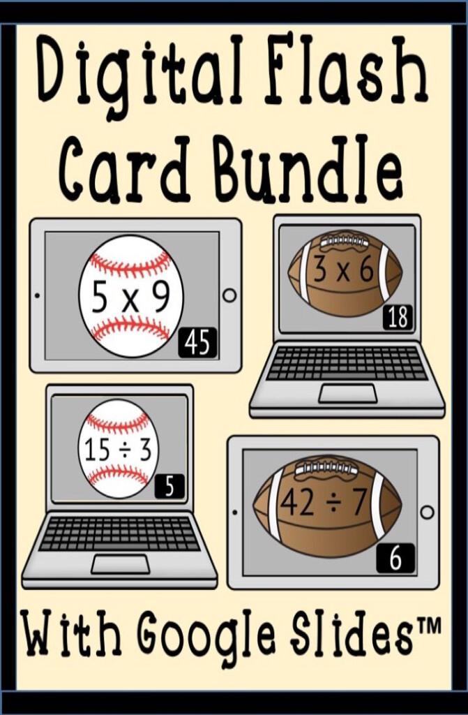 Multiplication & Division Digital Flash Cards Bundle