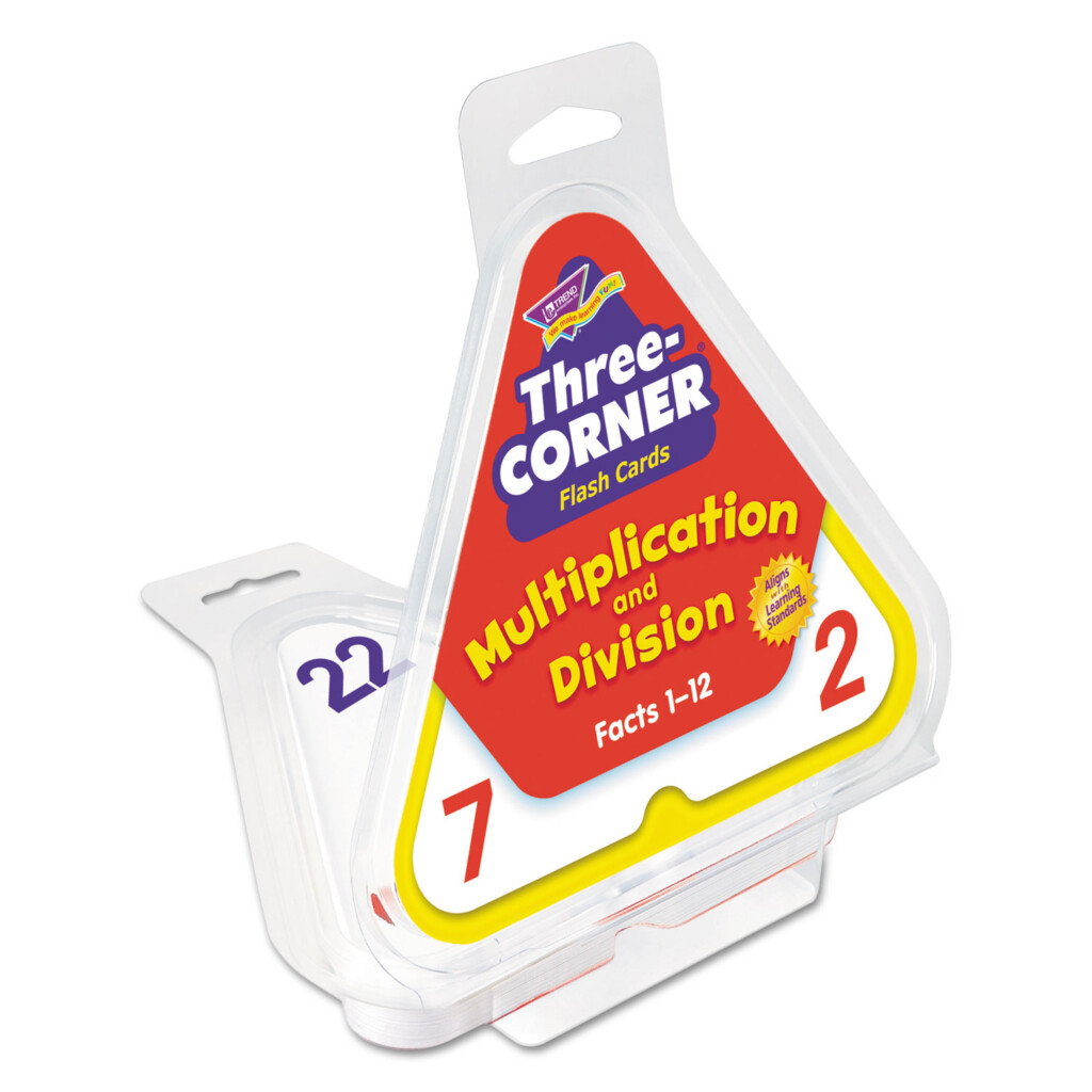 Multiplication/division Three Corner Flash Cards, 8 & Up, 48
