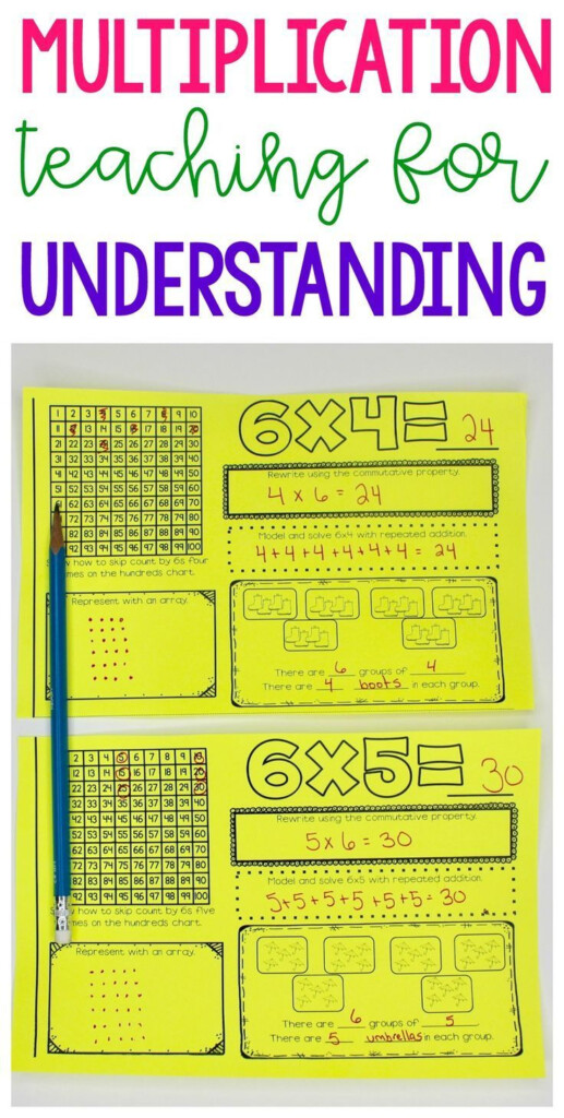 Multiplication Fact Booklets   Improving Understanding And