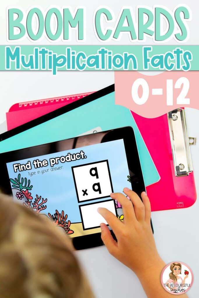Multiplication Facts 0 12 Boom Cards | Digital Task Cards