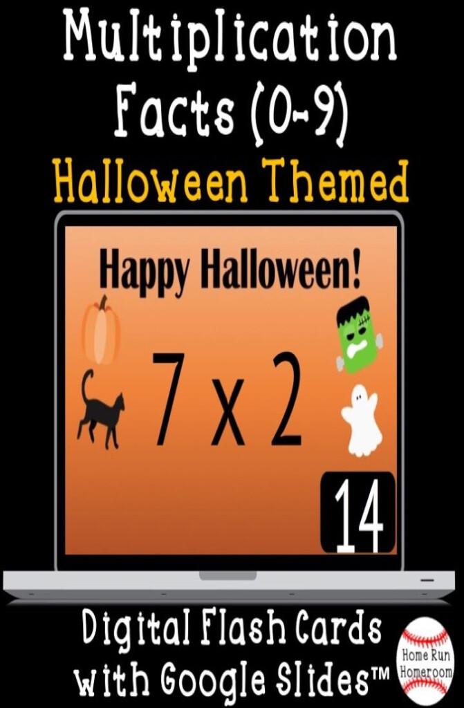 Multiplication Facts Google Classroom™ Digital Flash Cards