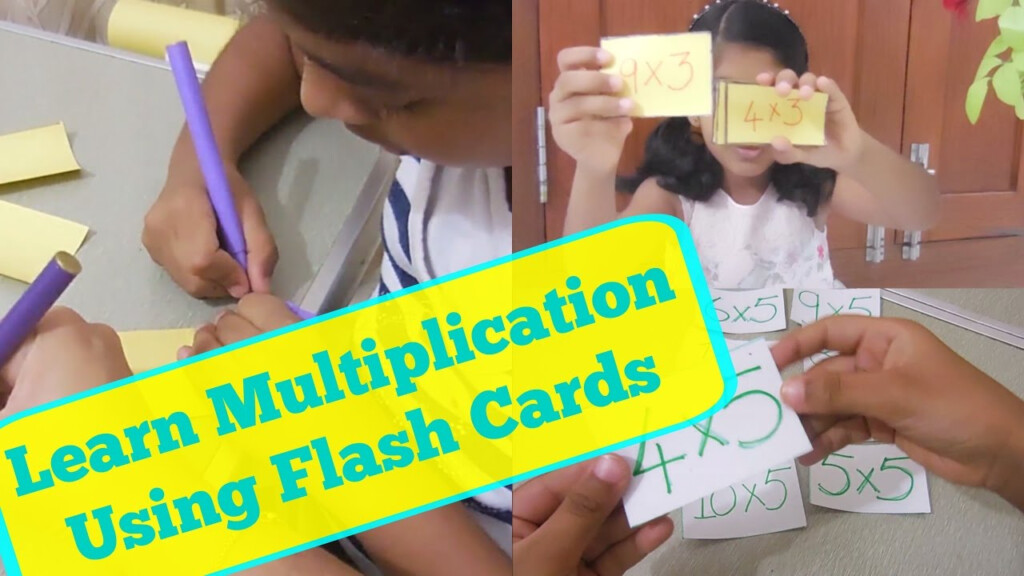Multiplication Flash Card   How To Make Homemade Flashcards   Kidshappiness