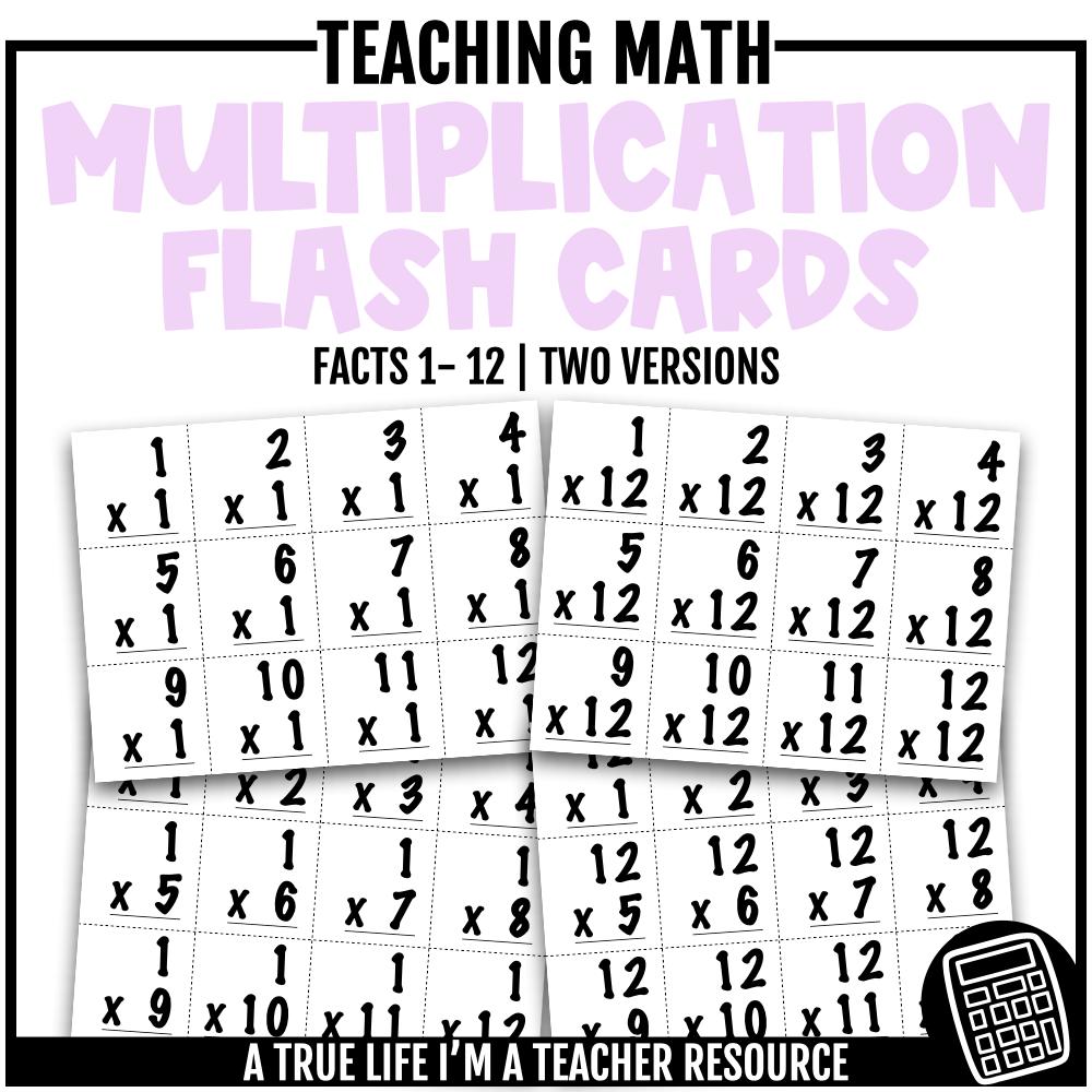 Multiplication Flash Cards 1-12 In 2020 | Multiplication