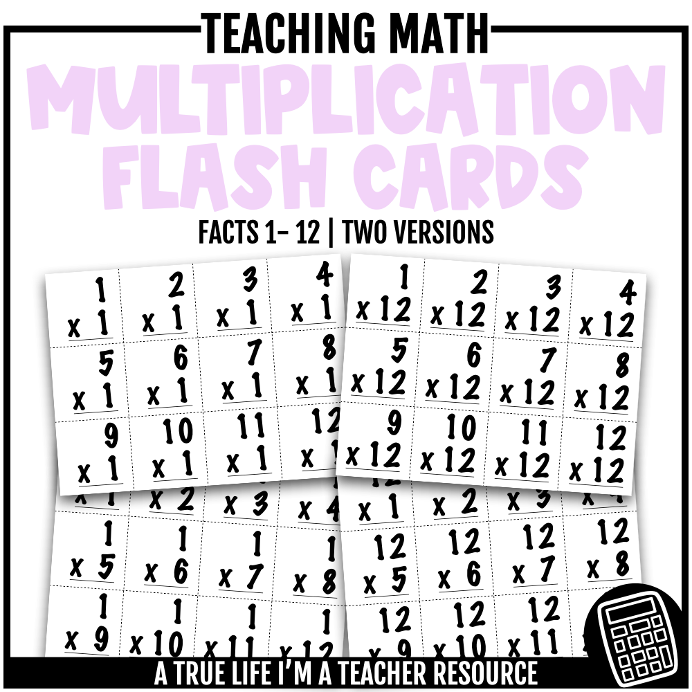 Multiplication Flash Cards 1-12 In 2020 | Multiplication
