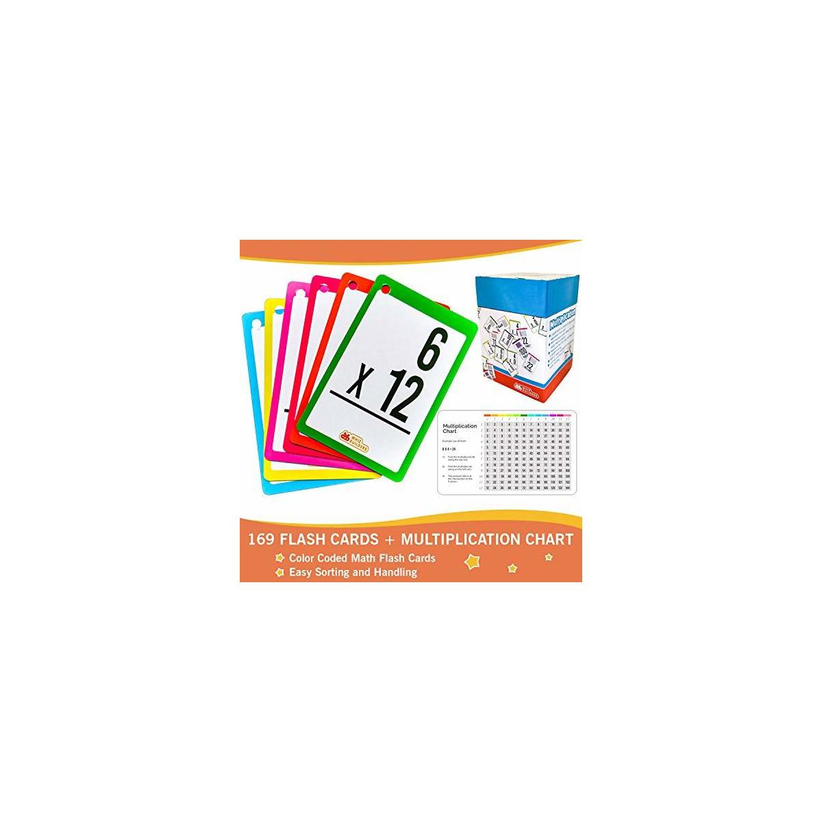 Multiplication Flash Cards For 3Rd Grade , Toddlers 2-4 – 169 Math  Manipulatives Flashcards - Multiplication And Division Times Table –  Learning Card