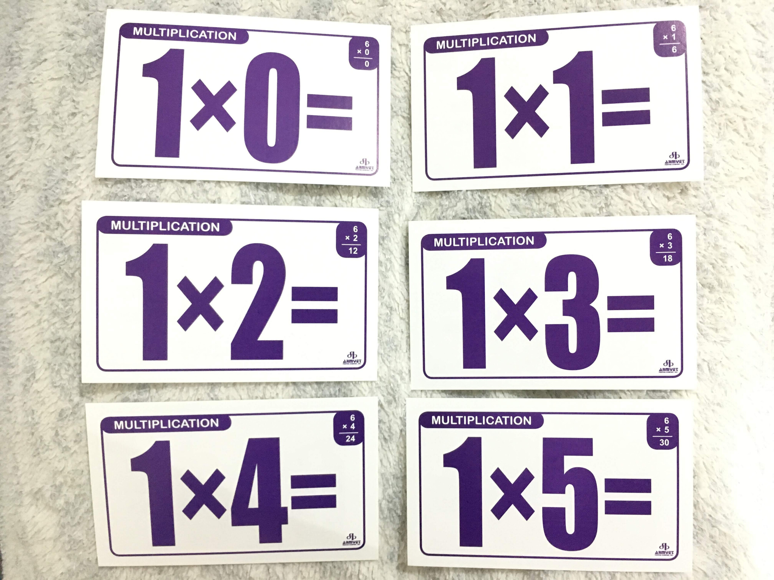 Multiplication Flash Cards For Kids