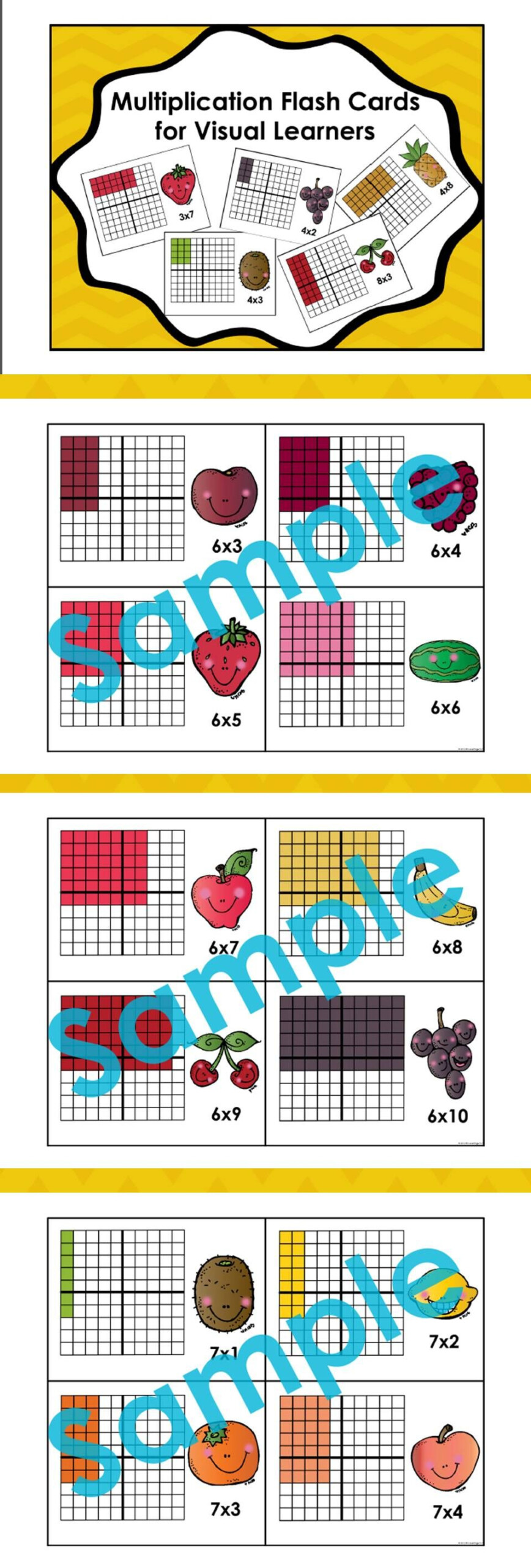 Multiplication Flash Cards For Visual Learners | Homeschool