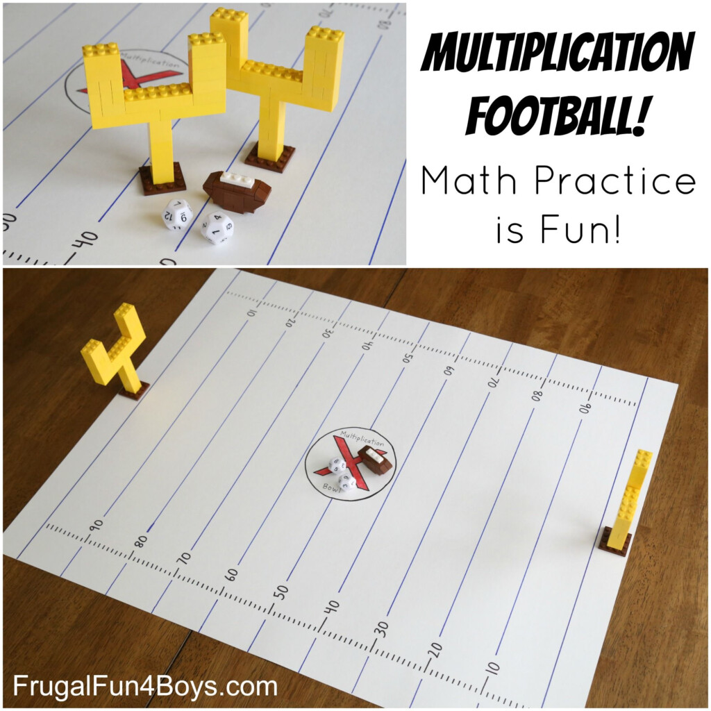 Multiplication Football Game: Make Math Fact Practice Fun