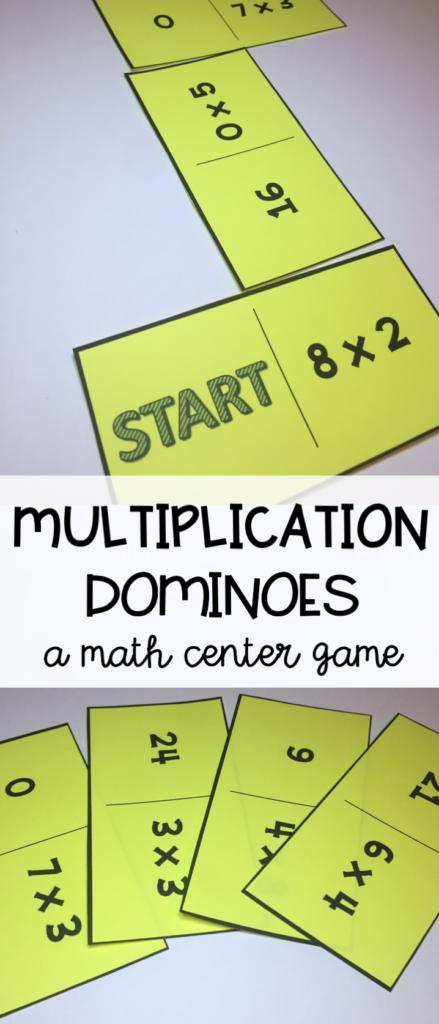 Multiplication Math Center   Multiplication Dominoes   A Fun