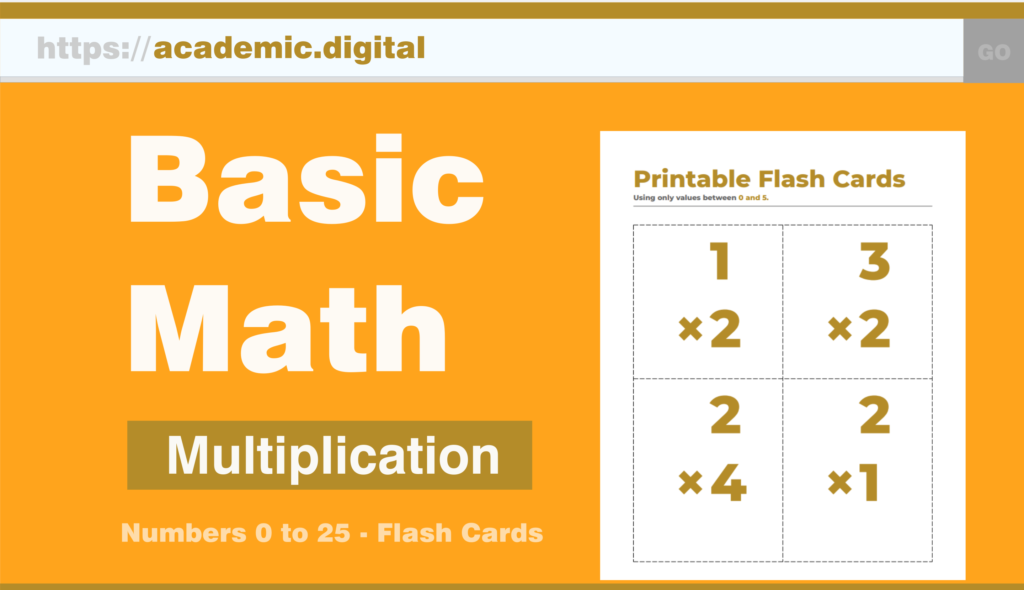 Multiplication Printable Flash Cards – Academic.digital
