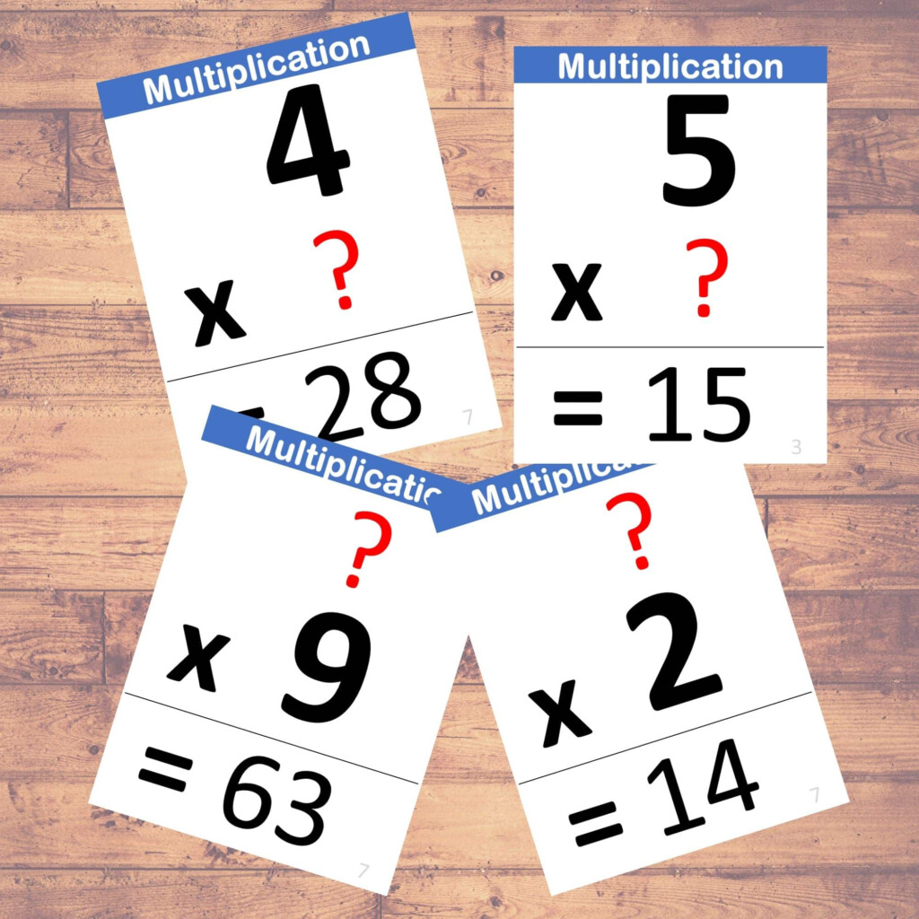 Multiplication (Problems)   Flashcards | Math | Learning | (40 Cards)