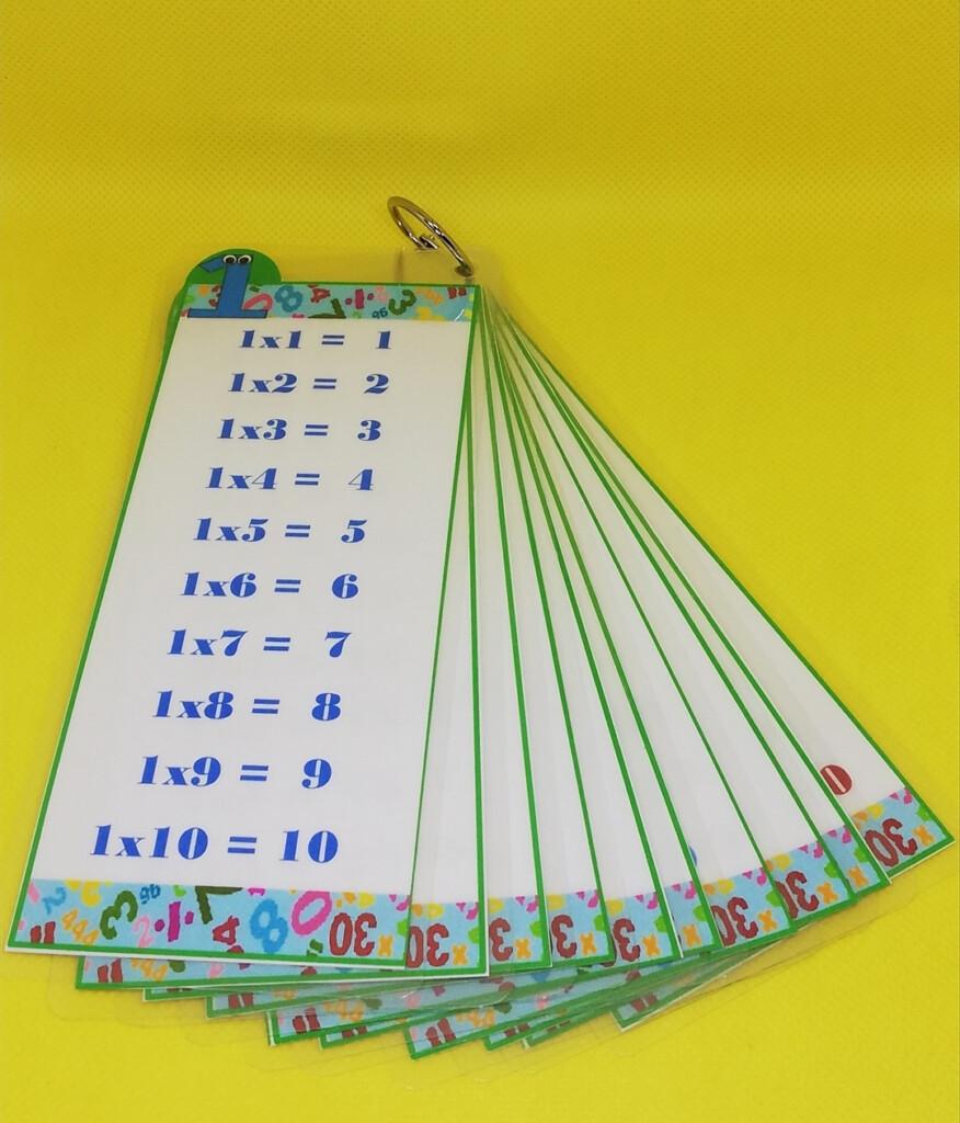 Multiplication Set Of 10 (Laminated Flash Cards)