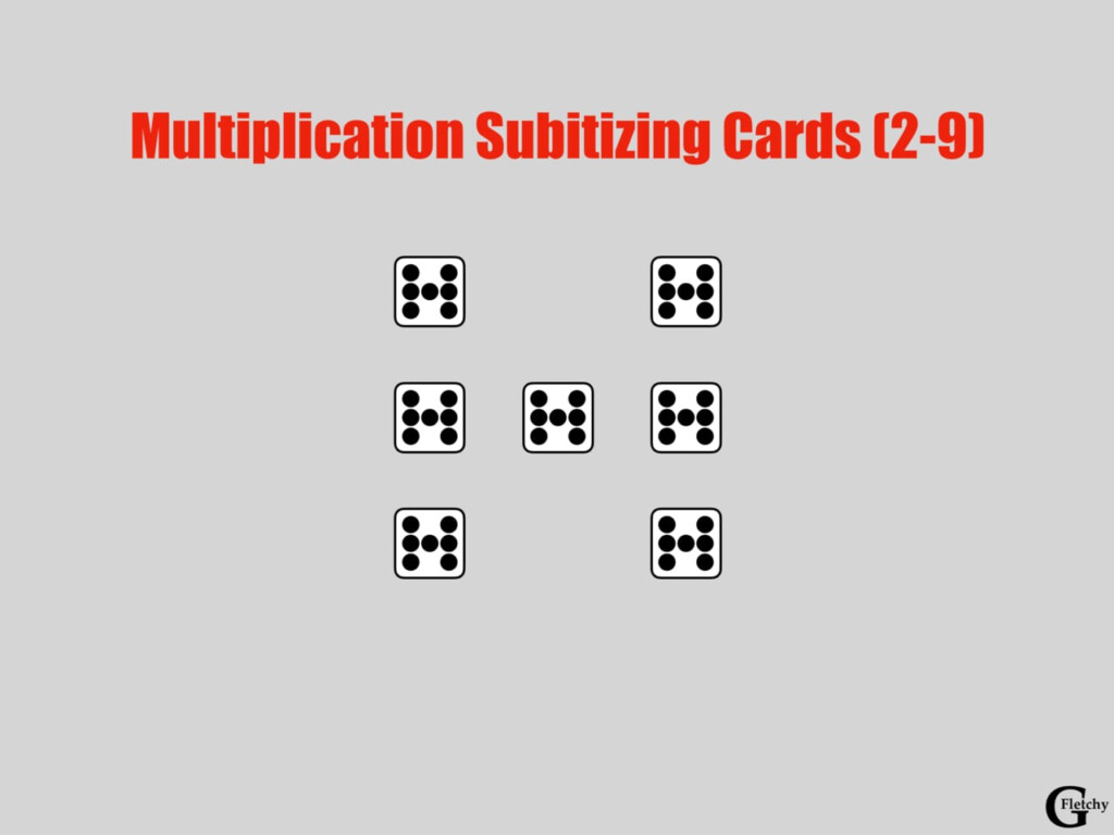 Multiplication Subitizing Cards: An Upgrade To Building