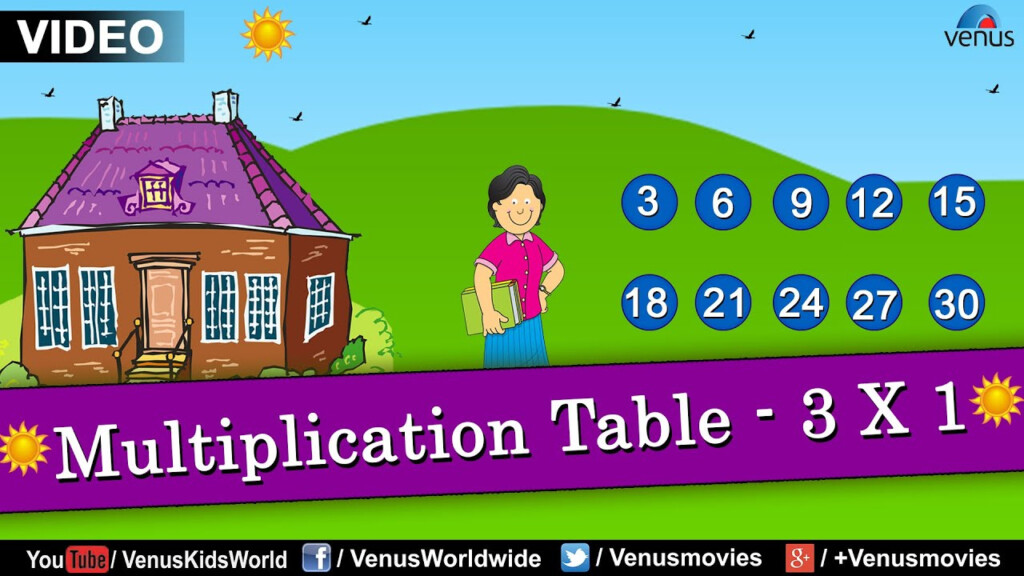Multiplication Table   3 X 1 || Multiplication Rhymes For Kids