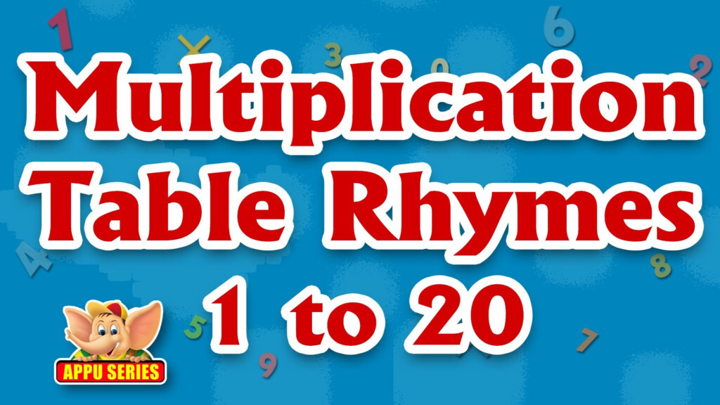 Multiplication Table Rhymes   1 To 20 In Ultra Hd (4K
