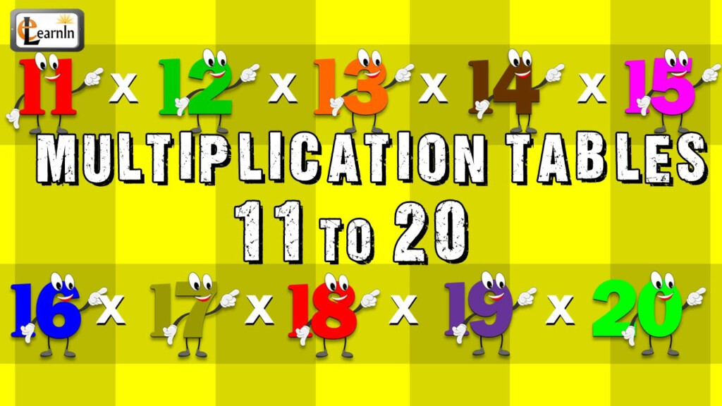 Multiplication Tables 11 To 20 | Multiplication Songs For