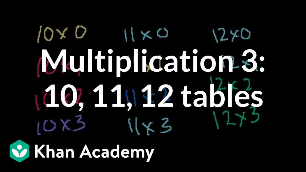 Multiplication Tables For 10, 11, 12 (Video)   Khan Academy