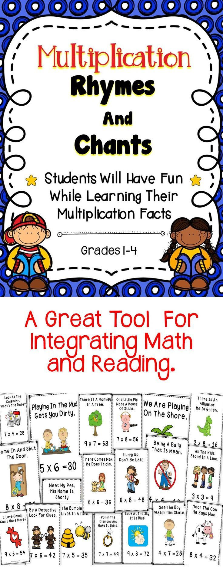 Multiplication - This Is A Bundle Of Multiplication Rhymes