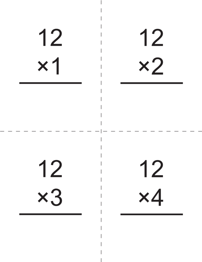 Multiplication Times 12 Flashcards   How To Learn