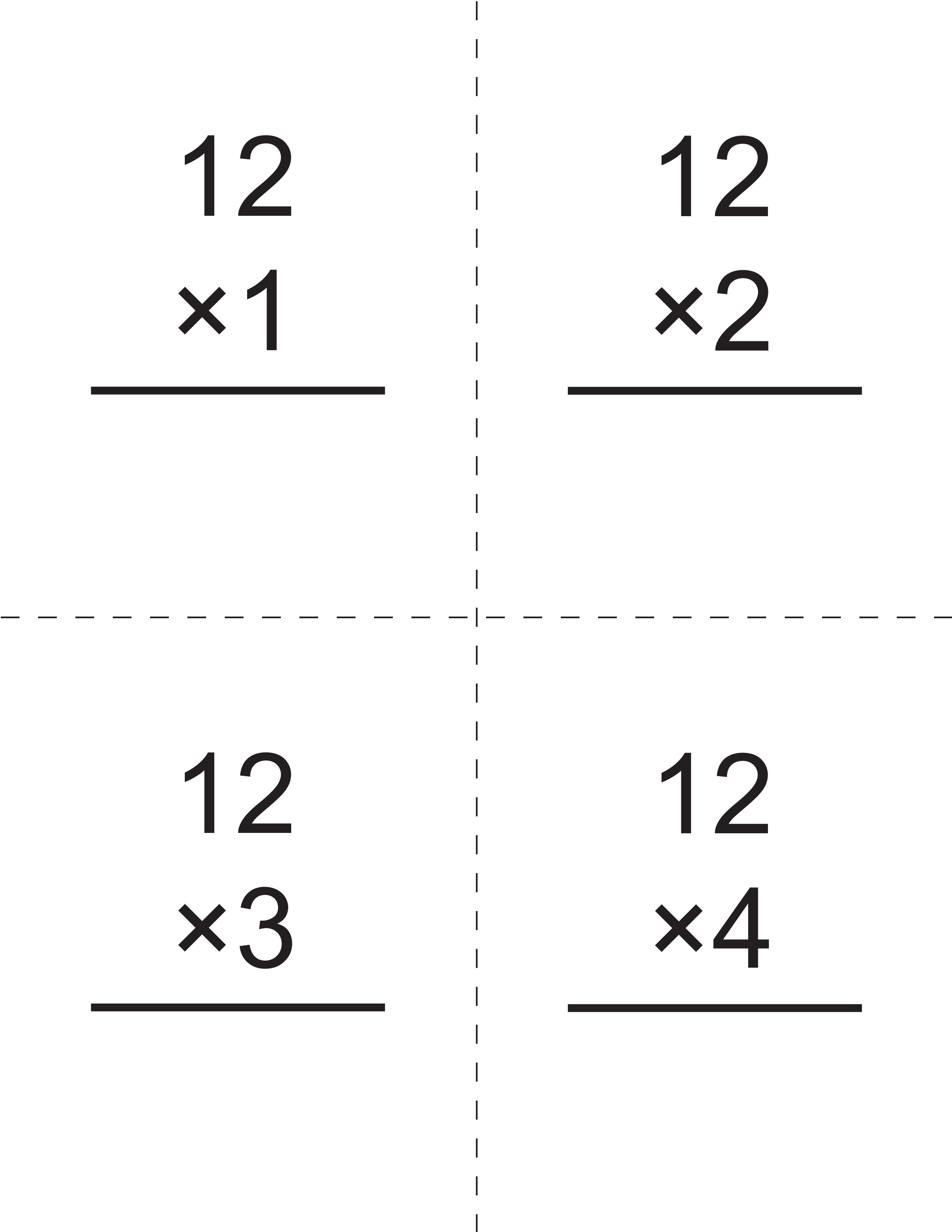 Multiplication Times 12 Flashcards - How To Learn