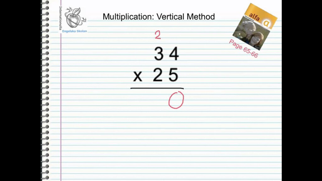 Multiplication Vertical Method