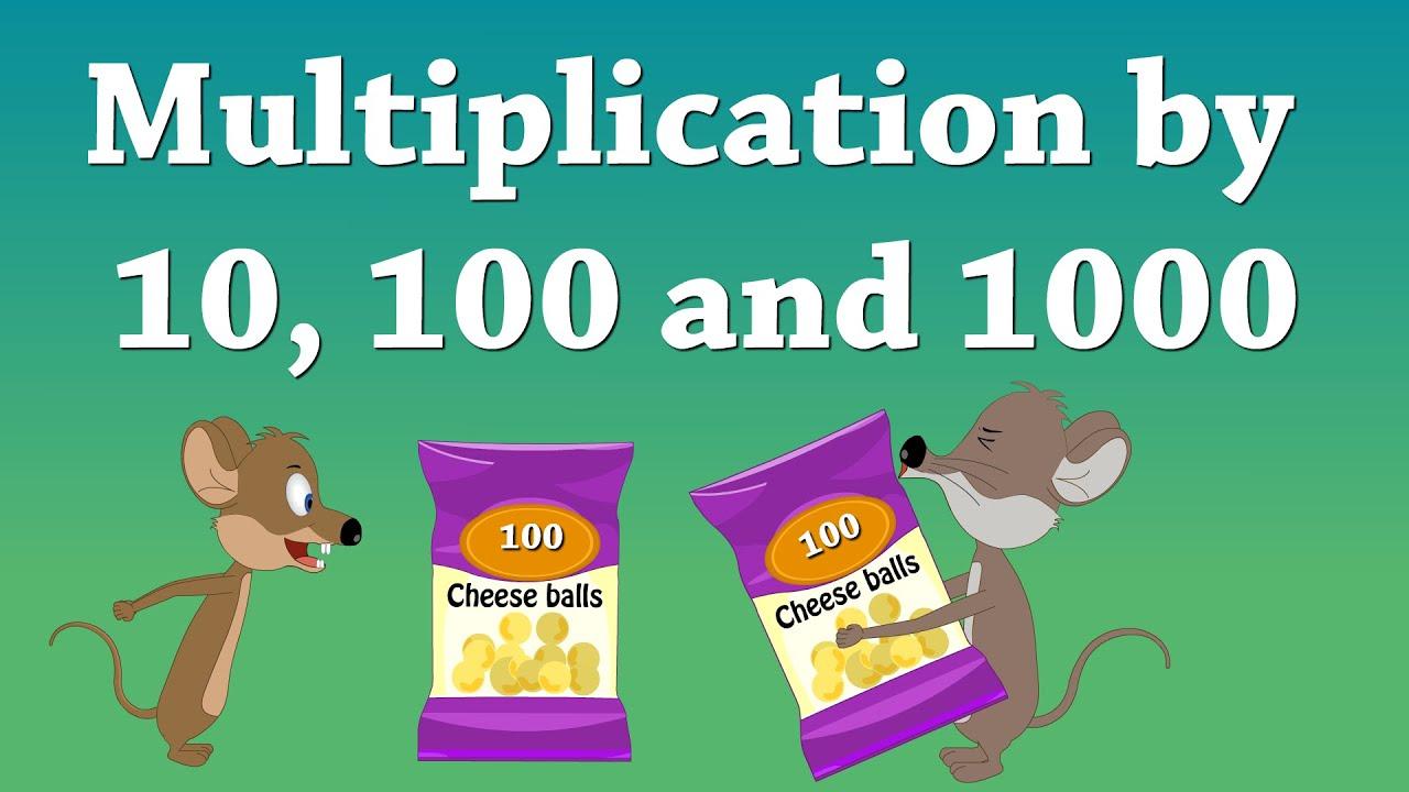 Multiplication10, 100 And 1000 | #aumsum #kids #science #education  #children