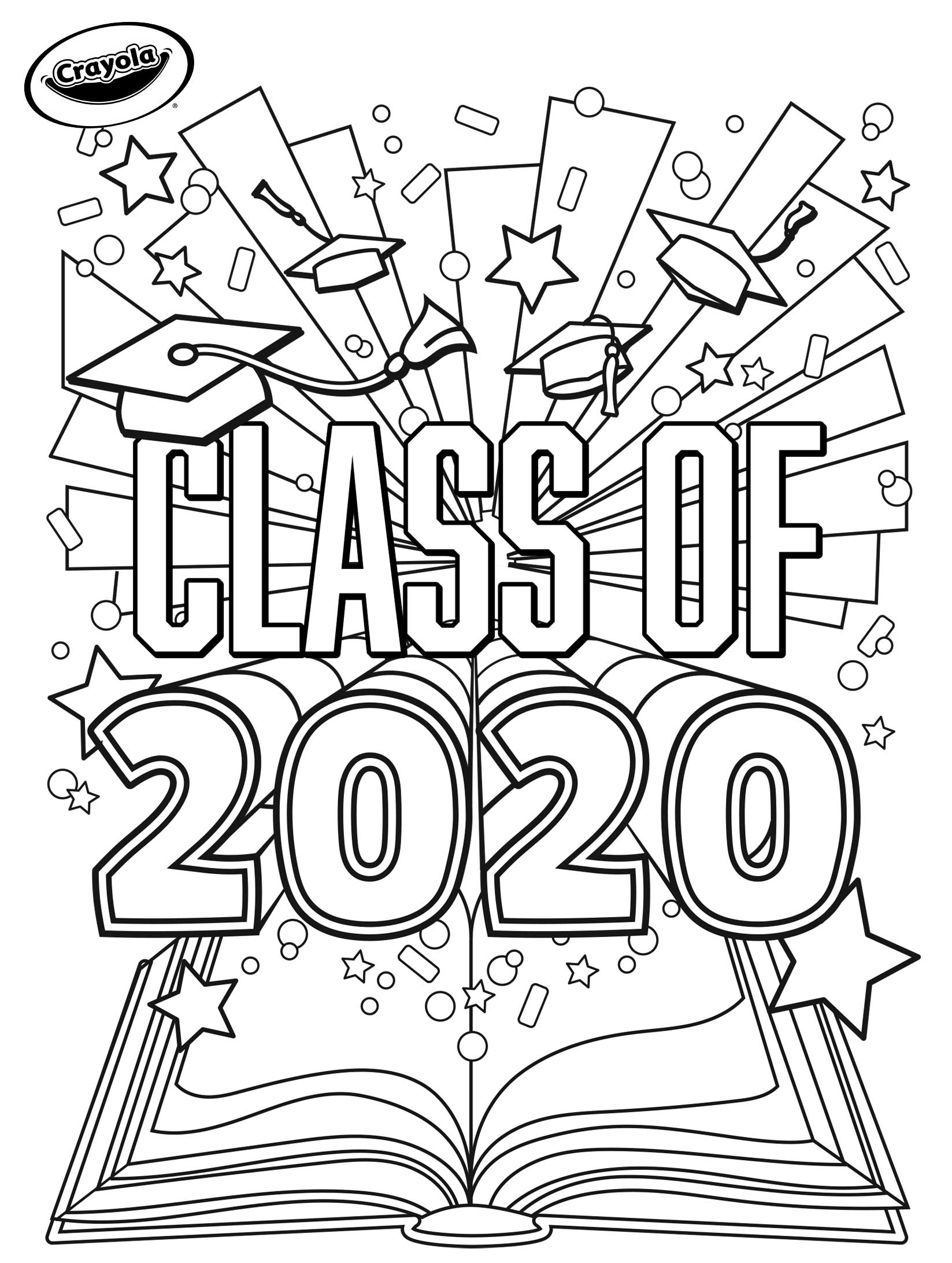 New Coloring Free Crayola To Graduation Printables One