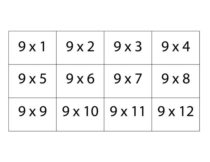 Free Printable Multiplication Flash Cards Printable