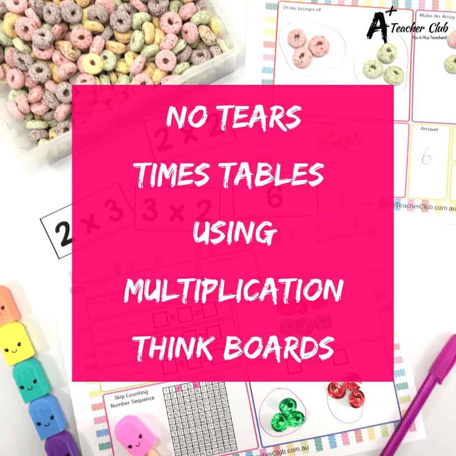 No Tears Times Tables Using Multiplication Think Boards