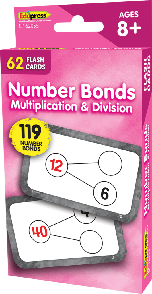 Number Bonds Flash Cards   Multiplication And Division