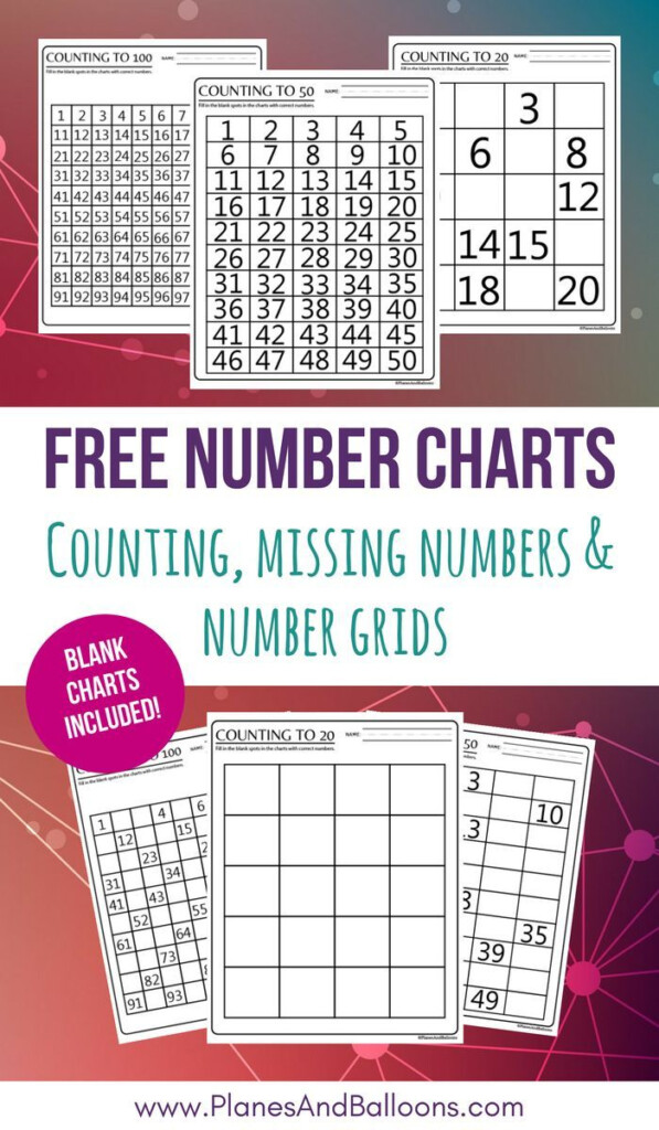 Number Chart 1 100 Free Printable Including Blank & Skip