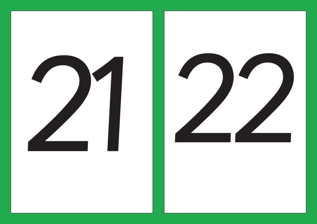 Number Flash Cards   Numbers 21 30 A5   Resources   Tes