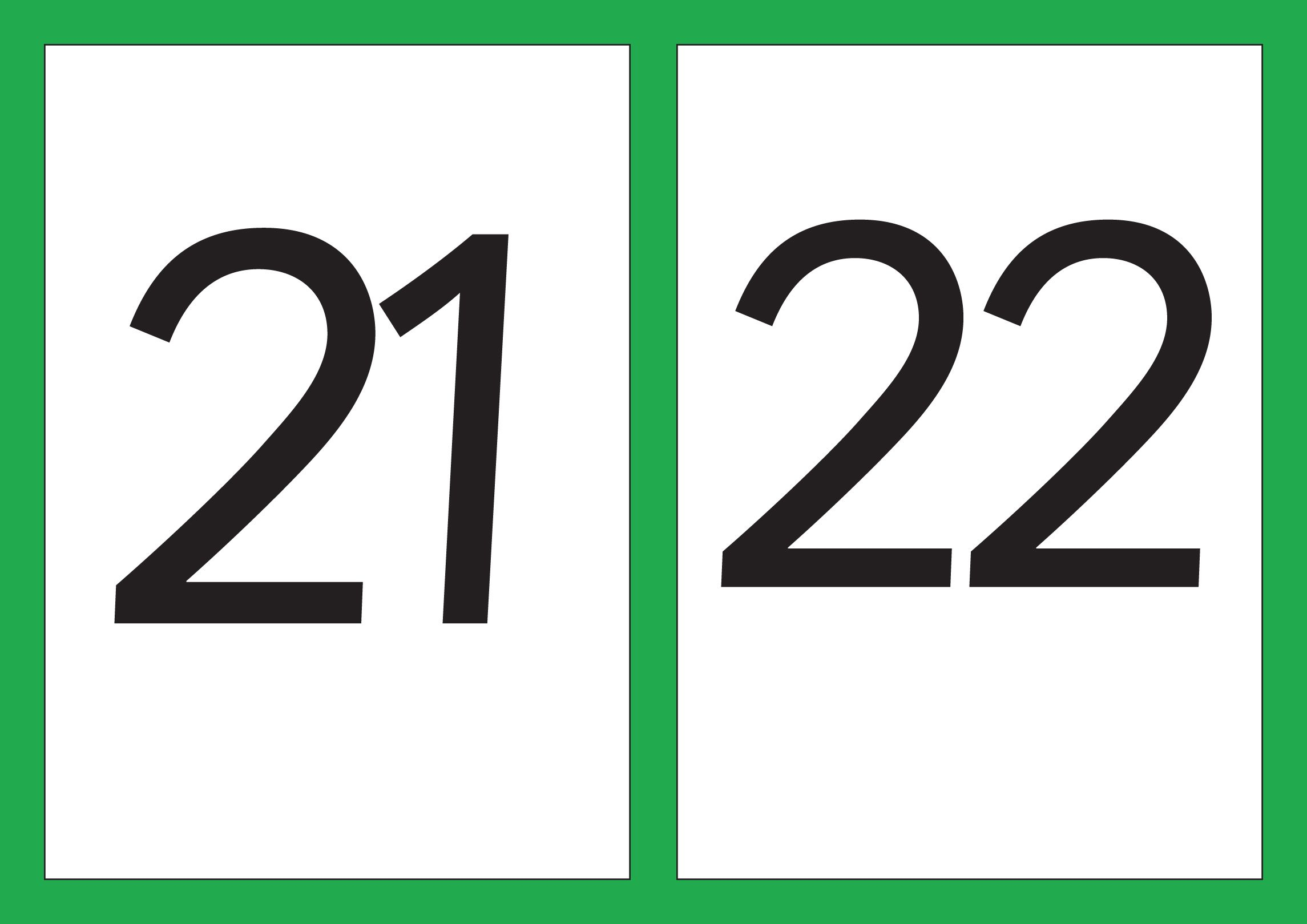 Number Flash Cards - Numbers 21-30 A5 - Resources - Tes