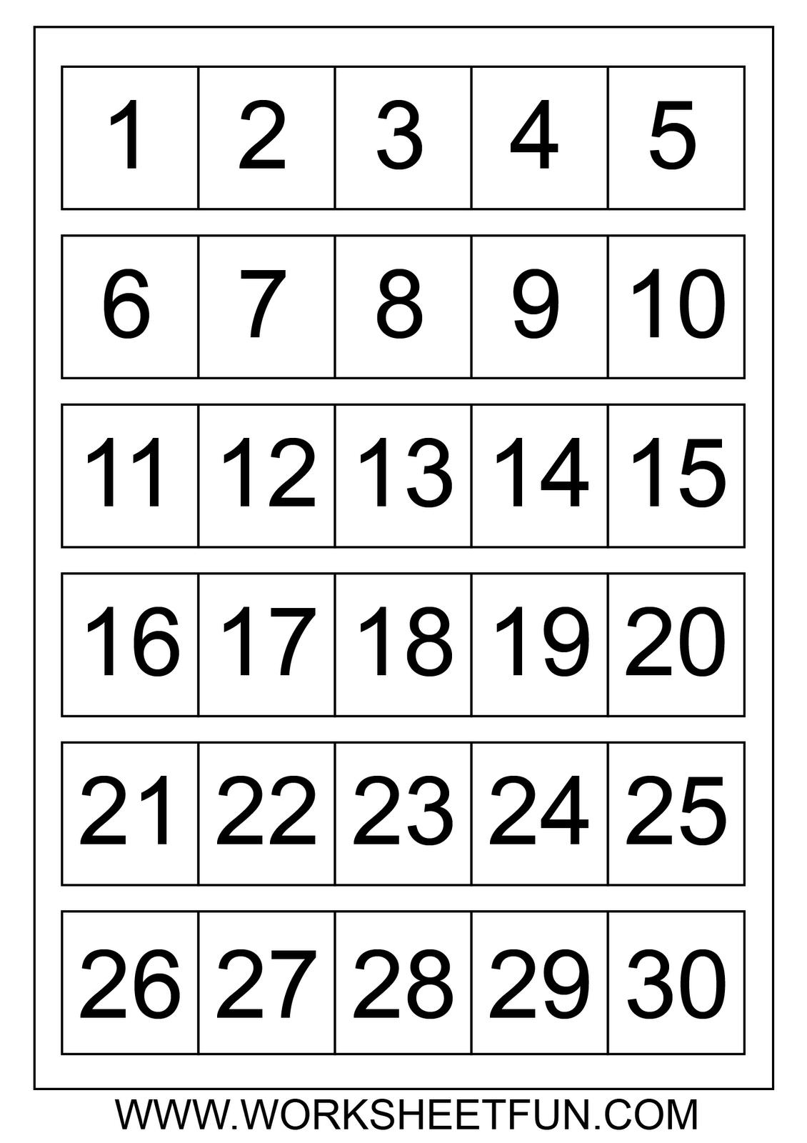 Numbers | Worksheetfun - Free Printable Worksheets
