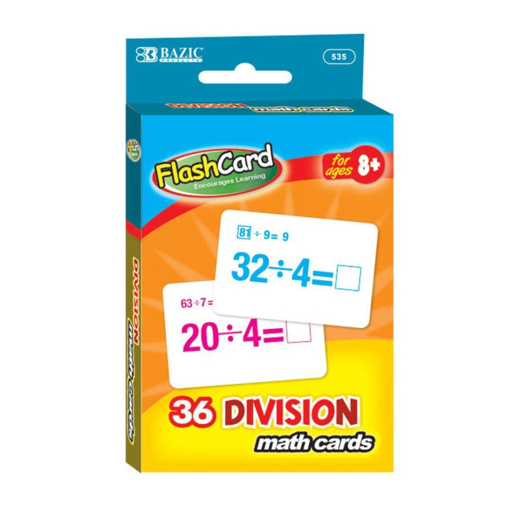 Order Bazic Division Flash Cards   36 Cards   Bazic, Delivered To Your Home  | The Outfit