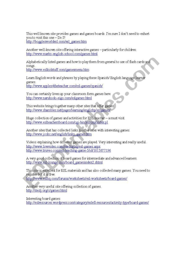 Outstanding English Language Learning Worksheets – Nilekayakclub