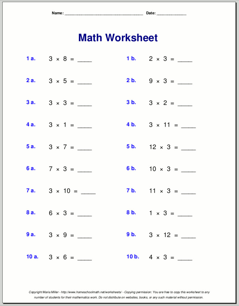 Printable Alphabet Counting To 20 Worksheets Free Free 3Rd Inside Multiplication Worksheets High School