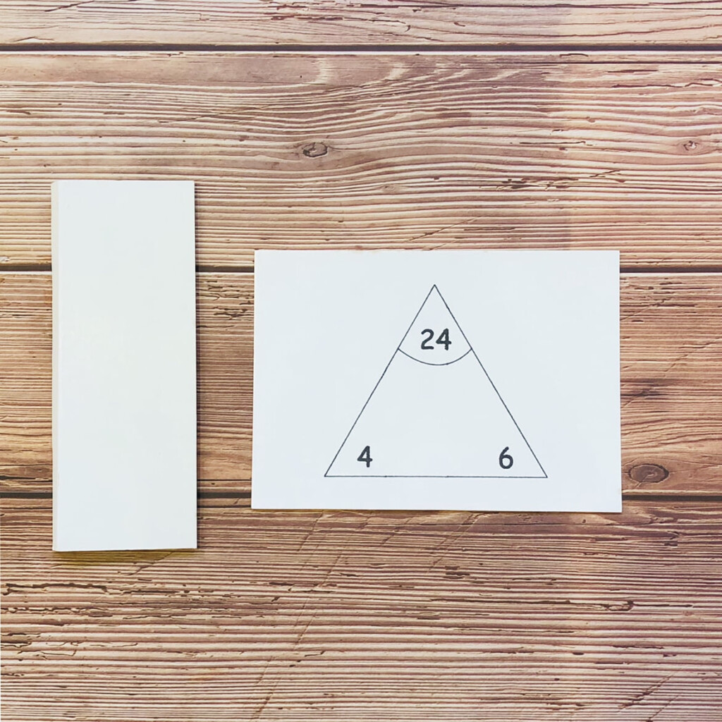 Printable Multiplication Division Triangle Cards
