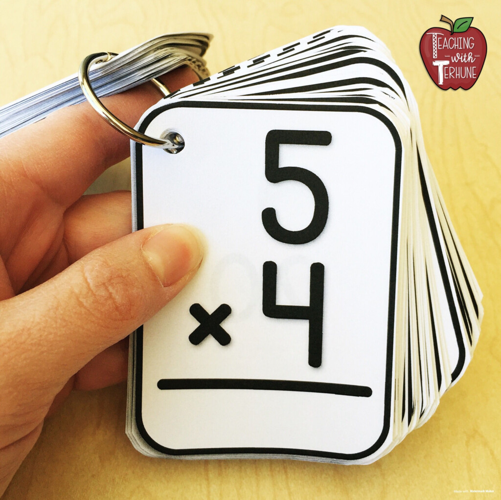 Printable Multiplication Flash Cards #multiplication