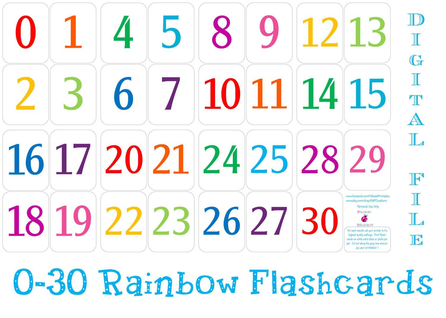 Printable Number Templates Free Printable Numbers 1-20 Free